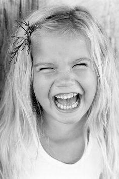 happy faces, little girls, kids smile, happi, joy, black white, children, babi, laughter