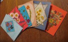 Pressed flowers cards