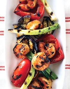 Spicy Shrimp with Grilled Vegetables