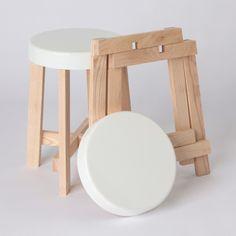 Simple interlocking stool