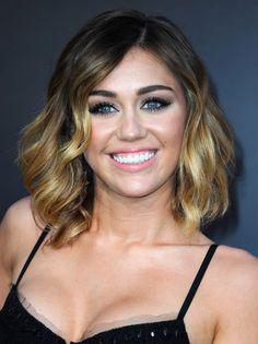 Miley Cyrus Medium Layered Cut - Medium Layered Cut Lookbook - StyleBistro