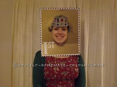 Postage Stamp Head Costume... This website is the Pinterest of costumes