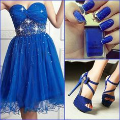 Matching #nails and #outfit in #blue <3