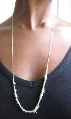 Thread necklace #jewelry #diy