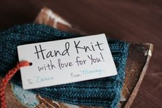 Hand Knit tag printables for gifting