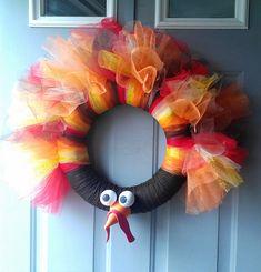 tulle wreath turkey