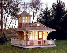 playhous, tower, cottag, dream, tini hous, tiny houses, backyard, guest houses, kid