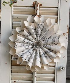 paper cone ornament wreath.
