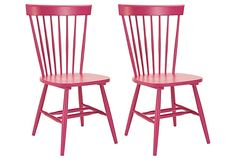 Kinda in love with this raspberry chairs