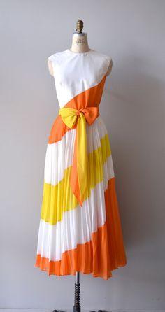 vintage 1970s Equatorial Boundary dress by Jack Bryan