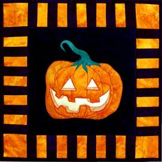 "Halloween Quilt pattern, 17.5"" square, at Arbee Designs"