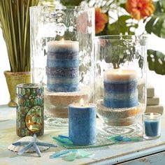 Pier 1 Oceans Candles and Mosaic Oil Warmer