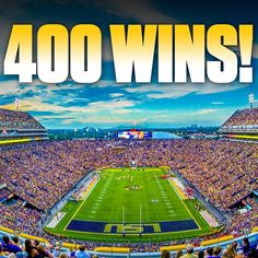 400 wins in Tiger Stadium! Photo taken by @lsufootball on Instagram, pinned via the InstaPin iOS App! (09/13/2014)