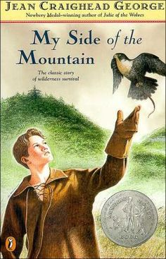 """My Side of the Mountain -- our kids loved this story, and not just for the story, but because the place the boy goes to camp out is """"near Delhi, NY,"""" where we live! In one chapter, he comes into town to go to our Cannon Library. One year, Jean Craighead George was a featured guest of the school's book fair."""