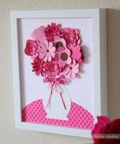 Картина цветы из бумаги своими руками