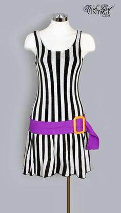 1960's Mod Knit Mini Dress