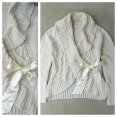 Cozy Knit Cardigan Finished with a Bow <3