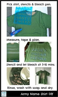 T-Shirt DIY....soooo doing this for boys.  They will be in love and hopefully give up the camo shirts with holes.