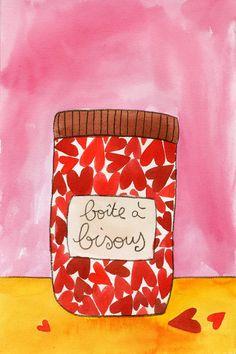 """""""boîte à bisous"""" Cécile Drevon"""