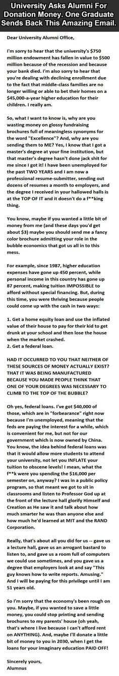 Higher Education scam exposed...