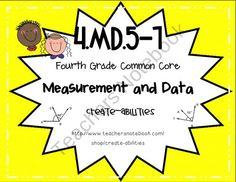 4th Grade Common Core MD.5-7: Angles: Math Tasks, Exit Tickets, I Cans product from Create-abilities on TeachersNotebook.com