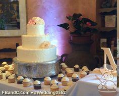 "Design W 0552 | 14""+10""+6"" Butter Cream Wedding Cake & Assorted Cupcakes | Custom Quote"
