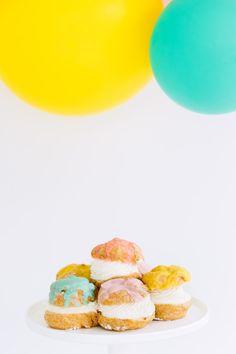 Colorful cream puffs