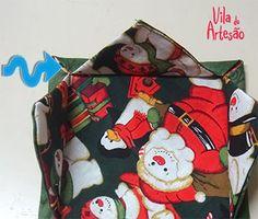 Dica de presente de Natal vapt-vupt em tecido - Vila do Artesão