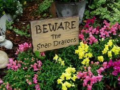Garden Signs - must plant snap dragons because the deer don't like them (per Southern Living magazine)