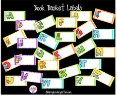 book basket labels! SO much fun!