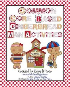 Common Core Gingerbread man activities $10..00 on TpT