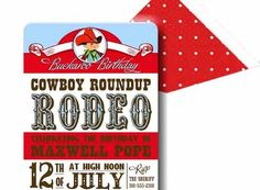 Invitation . Lil Buckaroo Collection COWBOY . by Loralee Lewis