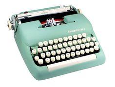 Seafoam green typewriter