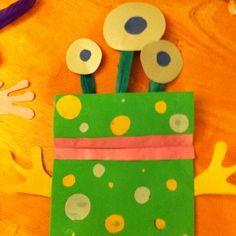 paper bag crafts, alien craft