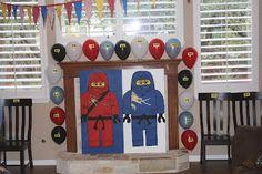 themed birthday parties, lego ninjago, ninjago theme, birthday idea, ninjago bday, ninjagobday bash, bday parti, parti idea, ninjago parti