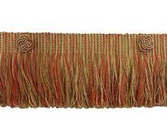 RUST GOLD Baroque Coll 3 Inch Loop Fringe W/Rosette Style# 3LFBR Color: CINNAMON TOAST - 6122 (Sold by The Yard)