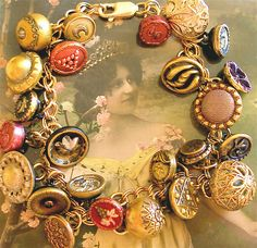 TO DO: Make my own antique button charm bracelet. I have most of the supplies and selecting the buttons would be a wonderful way to explore my collection!