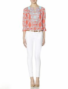 $59.95  Scroll Print Blouse | Women's Tops | THE LIMITED #PrintBlouse #TheLimited #Color print blous