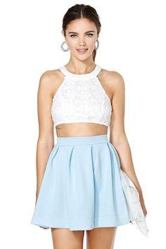 Scuba Skater Skirt - Blue