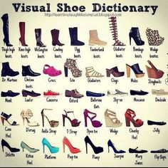shoe dictionary.