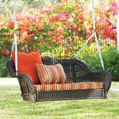Wicker Porch Swing,    love this......