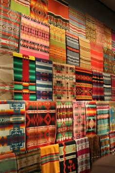 Pendleton blankets.  Love the patterns and colors.