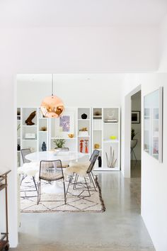 a pretty dining room