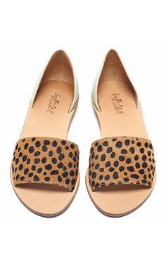 Loeffler Randall Resort Collection - Flat Leopard Sandals.