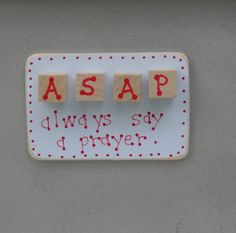 Put this on your fridge so you don't forget. #etsy #handmade #christian #crafts #prayer #homedecor