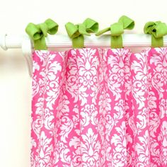 Hot pink curtains. Rosenberry rooms