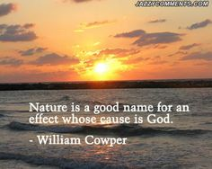 Nature is of God.