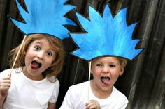 thing 1 and thing 2 crazy blue hair