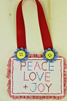 Peace Love & Joy Decor by Erin Lincoln for Papertrey Ink (September 2014)