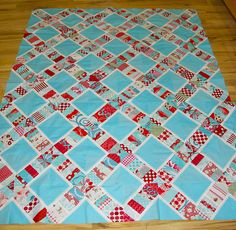 Stepping Stones quilt top by Trilliumdesign ~ Caroline, via Flickr